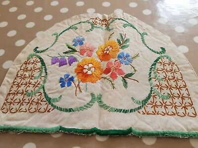Vintage Hand Embroidered Tea Cosy Floral