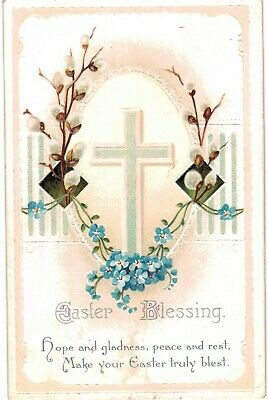 Clapsaddle Easter Uns Crucifix Gladness 1910 A/S