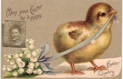 Clapsaddle Easter Uns Chick w RPPC Of Sender 1910 A/S