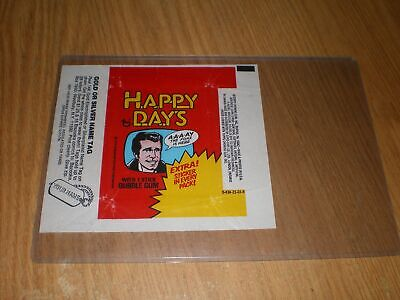 1976 Happy Days Trading Card Sticker Red Wrapper