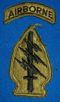 US Army Airborne Special Forces Patch & Tab 1960s-80s