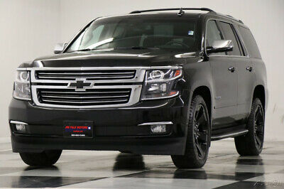 2016 Chevrolet Tahoe 4X4 DVD GPS Sunroof LTZ Black 4WD Loaded Used Blacked Out Heated Cooled Leather 7 Seats Navigation 22 In Rims 17