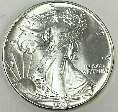 1986 Silver American Eagle One Ounce Coin ***Bu Brilliant Uncirculated***