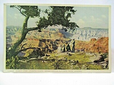 1910 Fred Harvey Postcard Desert View,Looking North,Grand Canyon Natl Park Az