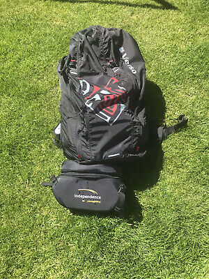 Paragliding Harness- Gin Verso With Reserve Parachute, Footrest & Flightdeck