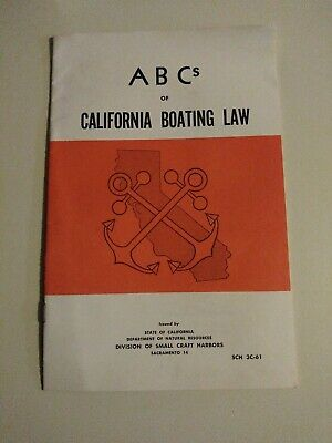 Abc's Of California Boating Laws 1961