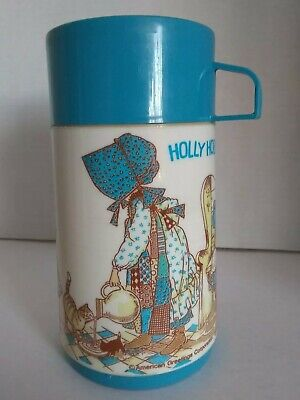 Holly Hobbie Plastic Thermos Vintage 1979 Aladdin VG Used Condition