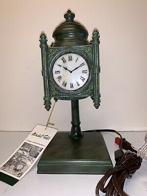 Vintage Marshall Field's The State Street Tiffany Clock Accent Lamp