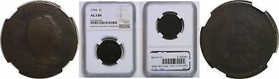 1794 Large Cent NGC AG-3 BN Head of '93