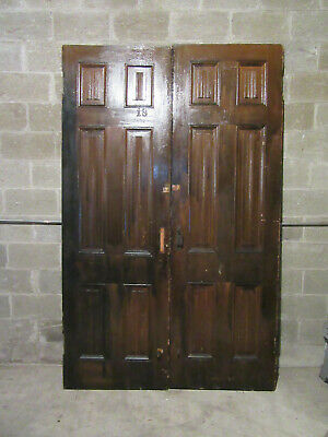 ~ ANTIQUE DOUBLE ENTRANCE FRENCH DOORS ~ 60 x 95 ~ ARCHITECTURAL SALVAGE