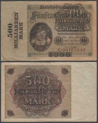Germany, 500 Milliarden Mark on 5,000 Mark, ND (old date 1923), VF++, P-124(a)