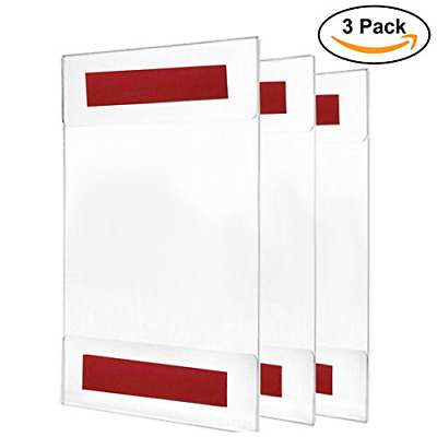 Acrylic Sign Holder / Display 8.5 x 11 or 11 x 8.5 � Sign Holder w/ Industrial 3
