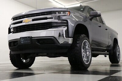2019 Chevrolet Silverado 1500 4X4 Lifted LT Leather Satin Steel Double 4WD Like New Used 6 In LIft 22 in RBP Rims Heated Bench Seats Camera 18 20 2018 19