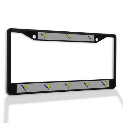 Metal License Plate Frame Vinyl Insert Federation of Bosnia Flag Map