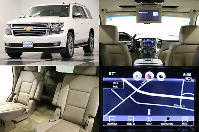 2015 Chevrolet Tahoe 4X4 LTZ DVD Sunroof GPS Leather White Diamond 4WD Used Navigation Heated Cooled Cocoa Seats 7 Passenger Camera 16 17 2016 15