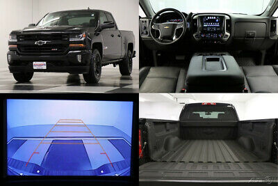 2016 Chevrolet Silverado 1500 4X4 2LT Z71 Leather Camera Midnight Double 4WD Like New Used Heated Bench Seats Blacked Out Bluetooth 17 18 2017 16 Ext Cab