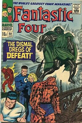 Fantastic Four # 58 - Dr.doom - Silver Surfer - Lockjaw - Kirby Art