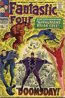 Fantastic Four # 59 - Dr.doom - Silver Surfer - Inhumans - Kirby Art - Ace Cover