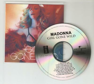Madonna 'Girl Gone Wild' Rare Brazilian 9 Dance Remix Cd Promo