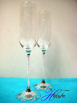 Crystalline Toasting Flutes (Set Of 2 Glasses) Swarovski Crystal  255678