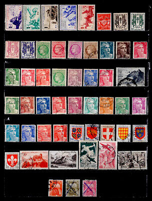 France: 1940'S - 50'S Stamp Collection