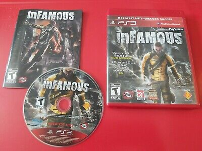 inFamous PS3 TESTED CIB GAME (Sony PlayStation 3, 2009) NOT FOR RESALE