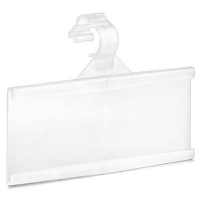 Pack of 100 � Plastic Wire Shelf Label Holder, Sign and Ticket Holder, Easy Clip