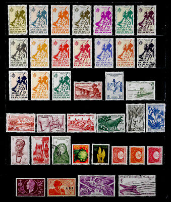 French West Africa, France: 1940'S - 50'S Stamp Collection Mostly Unused