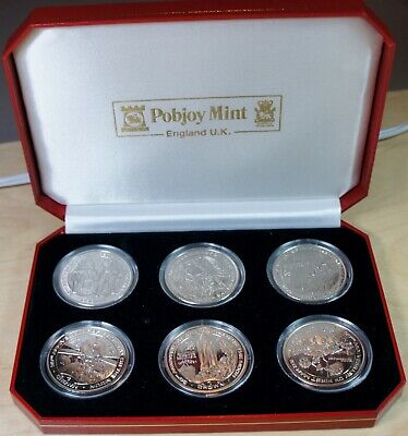 Isle of Man – 1999 – 30th Anniversary of Moon Walk – 1 Crown  - Set of 6 in case