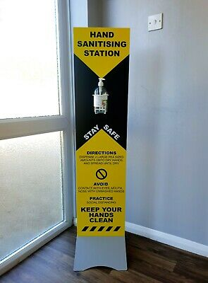Sanitising Station Free Standing 1300mm x 300mm Stand For Hands