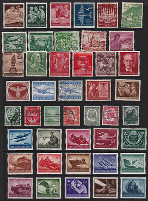 German Stamps Third Reich Selection from Old Album GCV