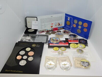 Large Job Lot / Collection Of Various Coins & Medals - Royal Mint Numisproof ETC