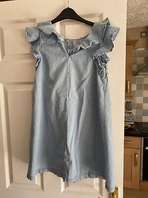 Girls Light Blue Denim Dress Age 13/14