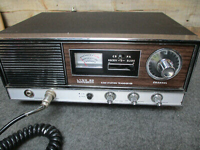 Vintage Pearce-Simpson CB Radio Base Station LYNX 23 Transceiver w/Mic