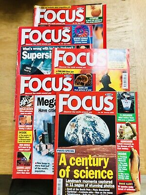 FOCUS (SCIENCE) MAGAZINES x 5no. - JANUARY TO MAY INCLUSIVE 2000 TOTAL