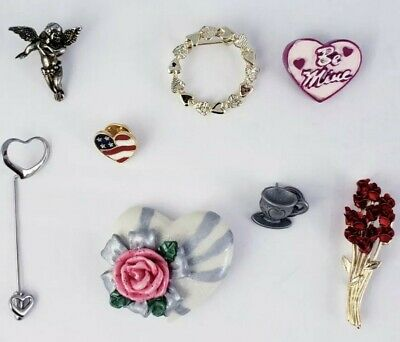 Valentine's Day Heart Love Vintage Romantic Jewelry Lot Signed