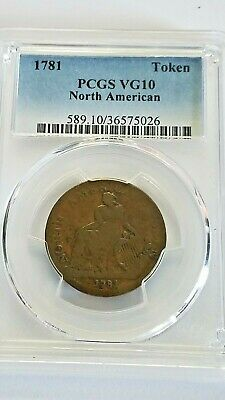 1781 North American Token U.S. Colonial Large Cent Colonial Coin PCGS