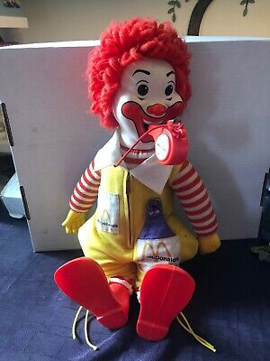 VINTAGE 1978 RONALD MCDONALD WHISTLE BLOWING DOLL with WHISTLE