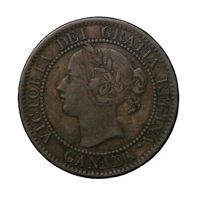1859 Canada 1c Large One Cent KM#1 Queen Victoria British Coin