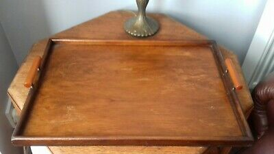 Original Vintage Wooden Butlers Tray   Serving Tray
