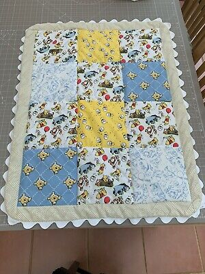Baby's quilt/play mat. Handmade. Winnie-the-Pooh. Polycotton.
