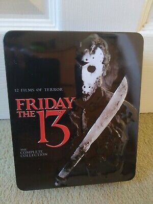 Friday the 13th 12-film 10-disc Blu-ray complete collection tin