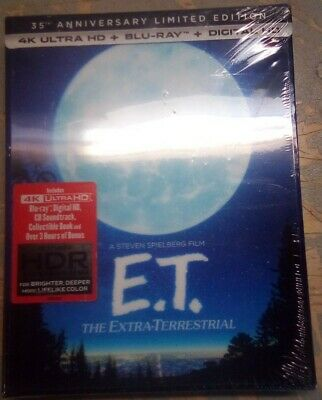 E.t  (4K Ultra Hd + Blu-Ray + Digital Hd) Lenticular Cover, 35 Anniversary New