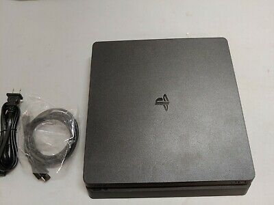 Sony PlayStation 4 PS4 Slim 500GB Jet Black Console + PS + HDMI