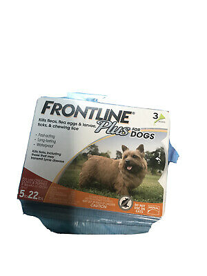 FRONTLINE PLUS DOGS   5-22lbs  FLEA AND TICK 3 Month Supply