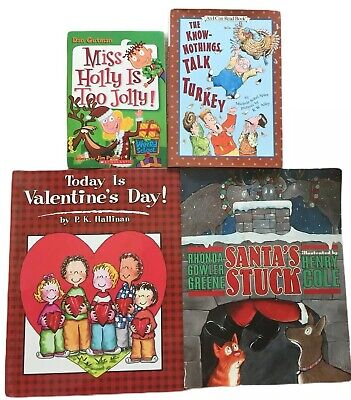 Story Time Assorted Holiday Bundle Lot of 4  Books for Kids