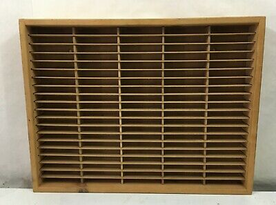 Napa Valley Box Company Wooden 100 Slot Cassette Tape Storage Rack Case Holder