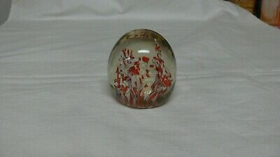 Vintage Art Glass Egg Shaped Paperweight