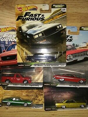 2020 Hot Wheels - Premium - Fast & Furious Motor City Muscle  - Set of 5