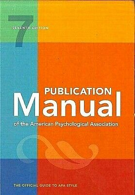 Publication Manual of the American Psychological Association 7th Ed 2020 [P.D.F✅